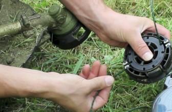 Comment changer le fil d'une débroussailleuse ?